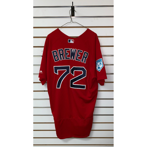 Photo of Colten Brewer team issued 2019 Spring Training Jersey