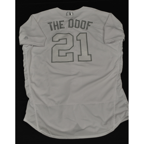 "Photo of Tyler ""The Doof"" Duffey Minnesota Twins Game-Used 2019 Players' Weekend Jersey"