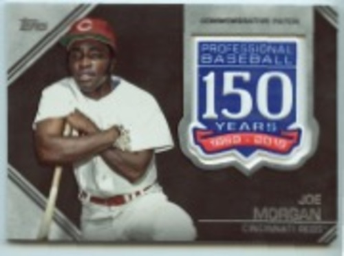 Photo of 2019 Topps Update 150th Anniversary Manufactured Patches #AMPJM Joe Morgan