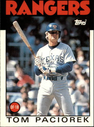 Photo of 1986 Topps Traded #83T Tom Paciorek