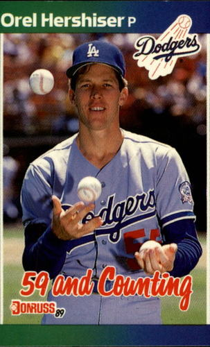 Photo of 1989 Donruss #648 Orel Hershiser/59 and Counting
