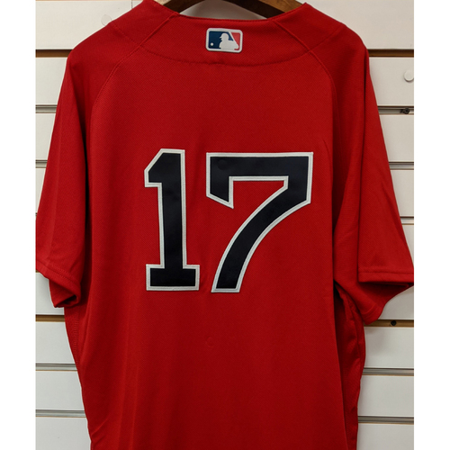 Photo of Deven Marrero #17 Team Issued Red Home Alternate Jersey