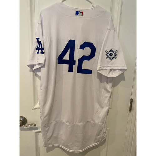 Photo of Edwin Rios Game-Used Jackie Robinson Day Jersey - Size 48