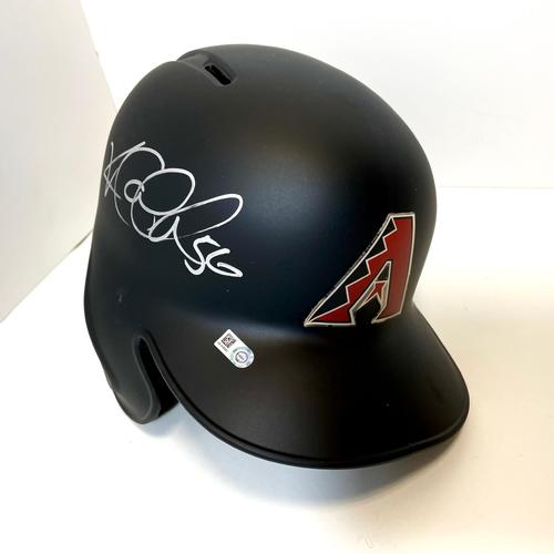 Photo of Kole Calhoun Autographed D-backs Helmet