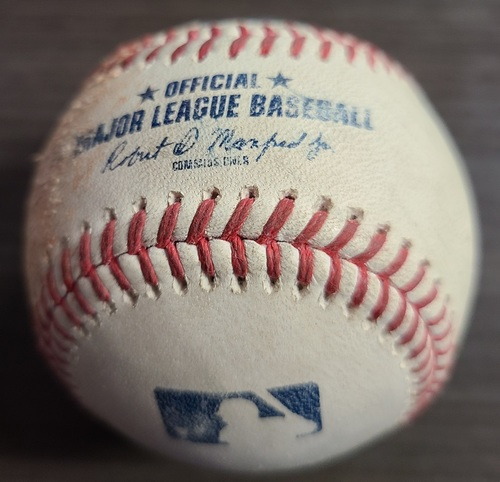 Photo of Authenticated Game Used Baseball: Singles by Ramon Urias and Anthony Santander against Steven Matz (Sep 1, 2021 vs BAL). Top 2.