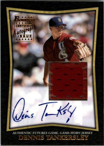 Photo of 2002 Bowman Futures Game Autograph Relics #DT Dennis Tankersley Jsy E