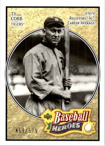 Photo of 2005 Upper Deck Baseball Heroes #197 Ty Cobb Tigers