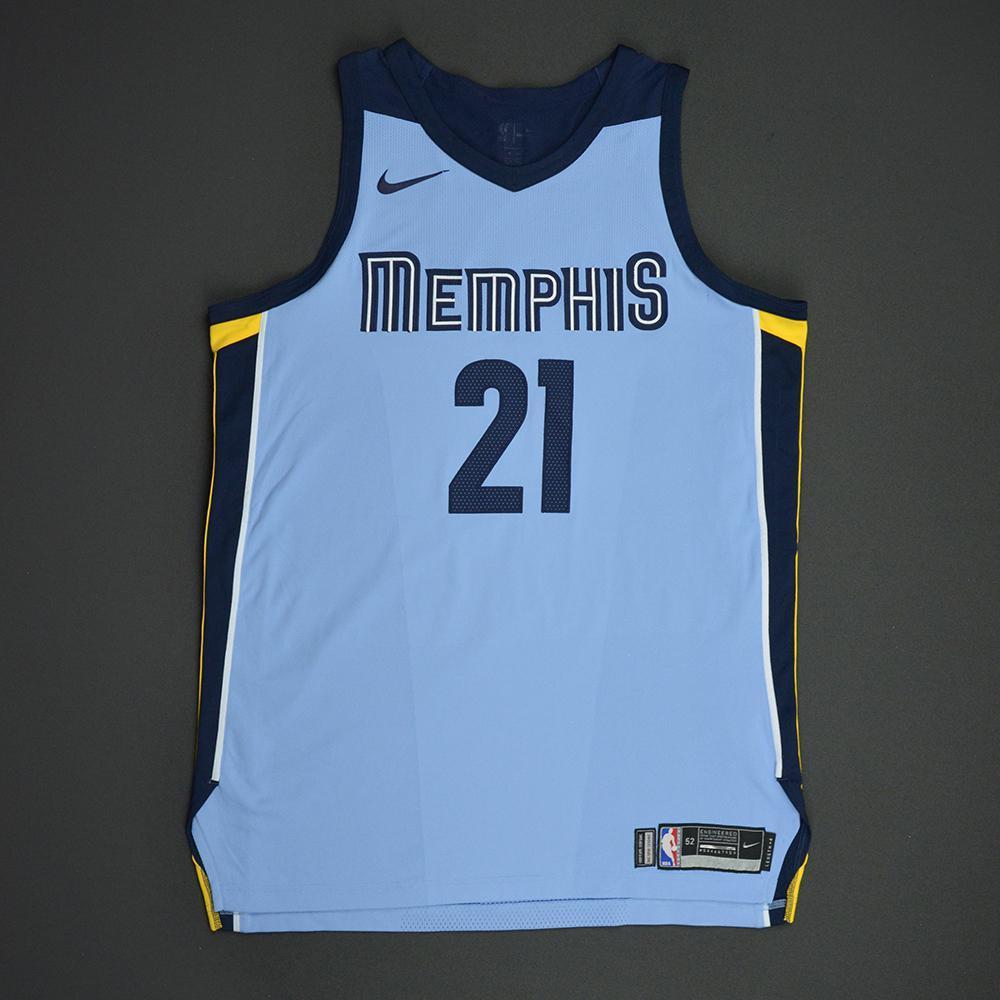 Deyonta Davis - Memphis Grizzlies - Statement Game-Worn Jersey  - 2017-18 Season