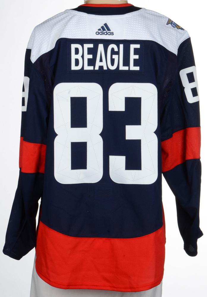 sale 59e6a c74a0 Jay Beagle Washington Capitals Game-Worn 2018 NHL Stadium ...
