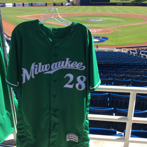 Photo of Jorge Lopez 2018 Team-Issued St. Patrick's Day Jersey