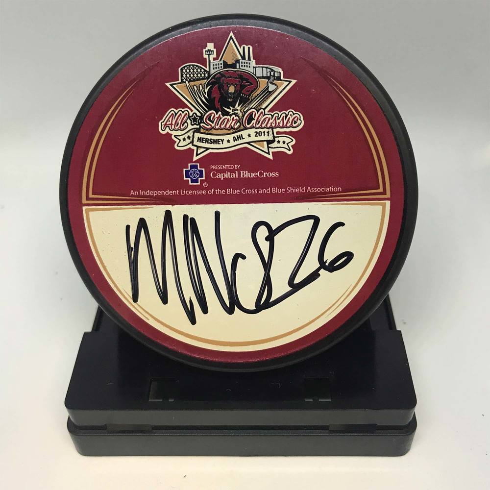 2011 AHL All-Star Classic Souvenir Puck Signed by #26 Maxim Noreau