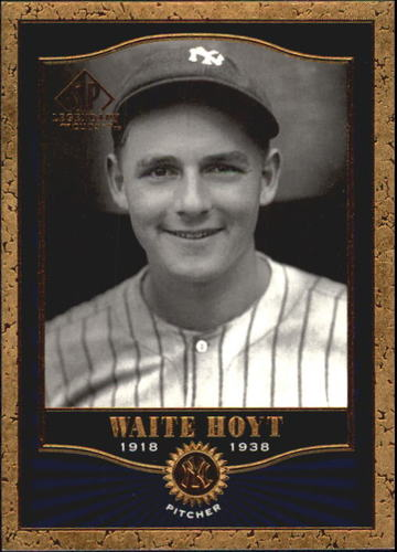 Photo of 2001 SP Legendary Cuts #88 Waite Hoyt -- Hall of Fame Class of 1969