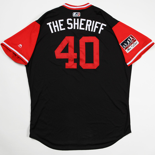 "Photo of Andrew ""The Sheriff"" Chafin Arizona Diamondbacks Game-Used Players' Weekend Jersey"