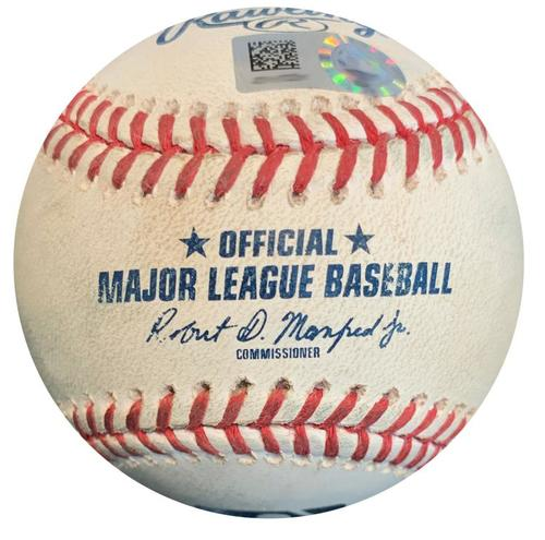 Game-Used Baseball from Pirates vs. Nationals on 7/11/18 - Trevor Williams Strikes Out Juan Soto