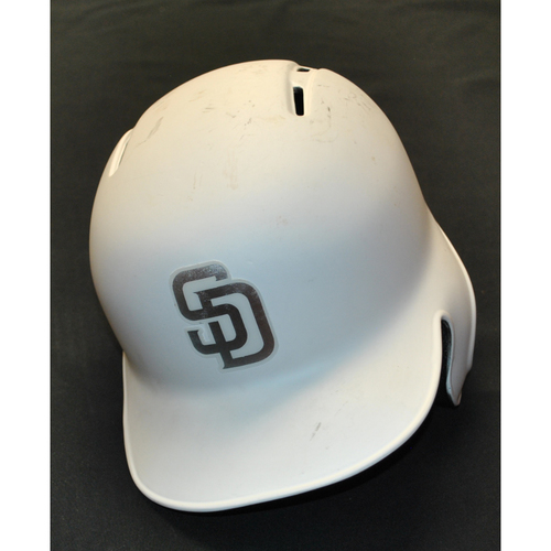 "Photo of Manny ""El Ministro"" Machado San Diego Padres Game-Used 2019 Players' Weekend Helmet"