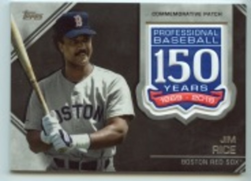 Photo of 2019 Topps Update 150th Anniversary Manufactured Patches #AMPJR Jim Rice