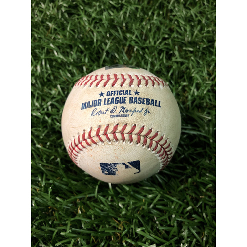 Game Used Baseball: Eddie Rosario 2RBI single off Adam Kolarek - May 31, 2019 v MIN