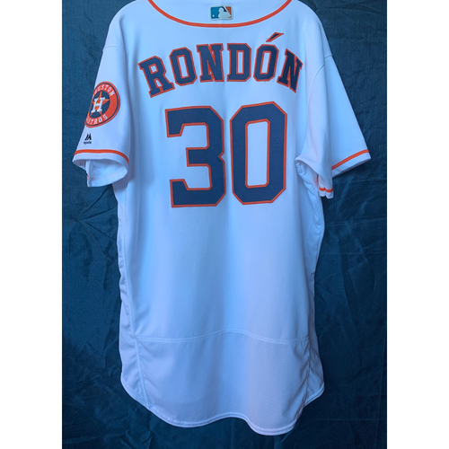 Photo of 2019  Game-Used Hector Rondon White Los Astros Home Jersey - Size 46