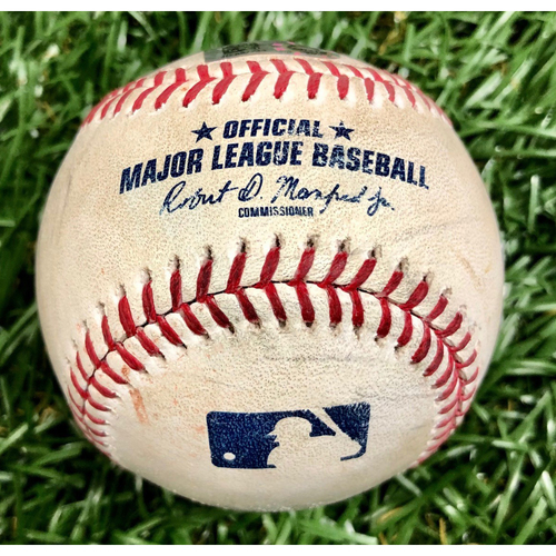 Photo of Game Used Baseball: Rafael Devers 2RBI Double off Jalen Beeks - July 22, 2019