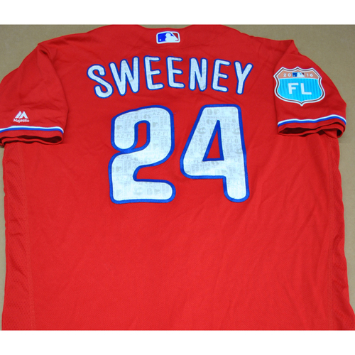 Photo of Game-Used 2016 Spring Training Jersey - Darnell Sweeney - Size 46 - Philadelphia Phillies