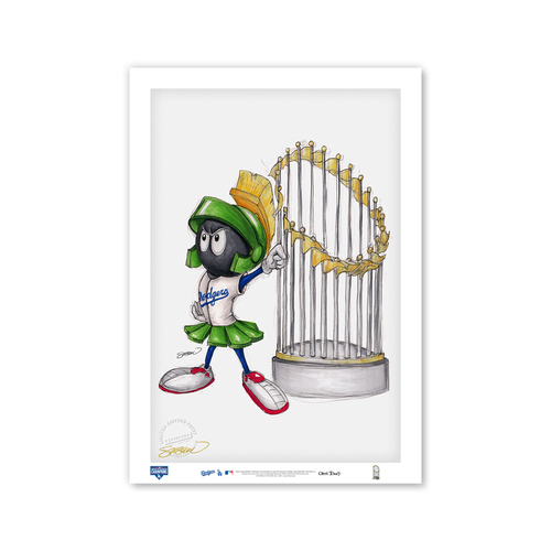 Photo of Bubblegum Bugs Bunny - Dodgers - Limited Edition Print of 100 by Artist S. Preston