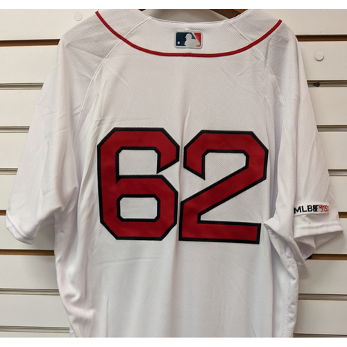 Photo of Durbin Feltman #62 Team Issued Home White Jersey
