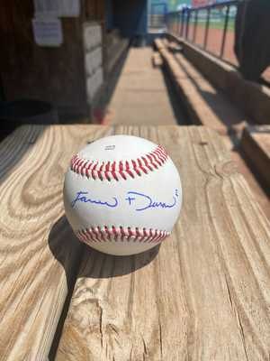 Autographed Jarren Duran Carolina League Baseball