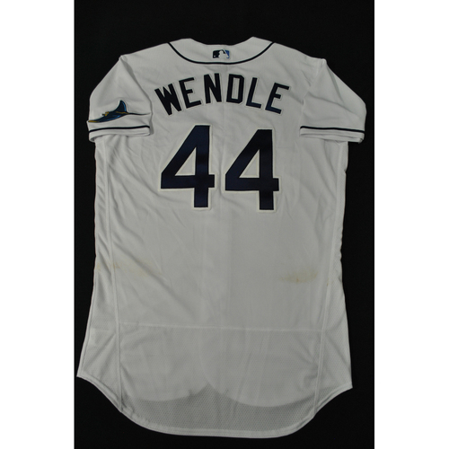 Photo of Hank Aaron Chasing the Dream Foundation: Joey Wendle 2021 MLB All-Star Workout Day BP-Worn # 44 Jersey
