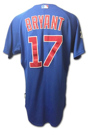buy popular 8bea4 64cbe MLB Auctions | Kris Bryant Game-Used Jersey - Bryant Hits GW ...