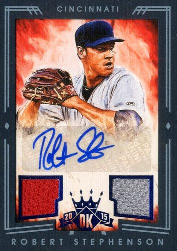 Photo of 2015 Diamond Kings DK Signature Materials Framed Blue #223 Robert Stephenson/25