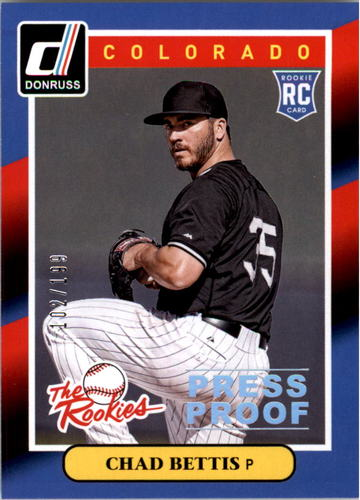 Photo of 2014 Donruss The Rookies Press Proofs Silver #35 Chad Bettis