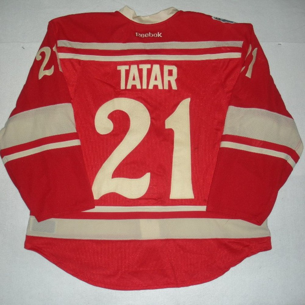 264a7131d low cost 21 tomas tatar 2014 winter classic detroit red wings red game worn  jersey worn