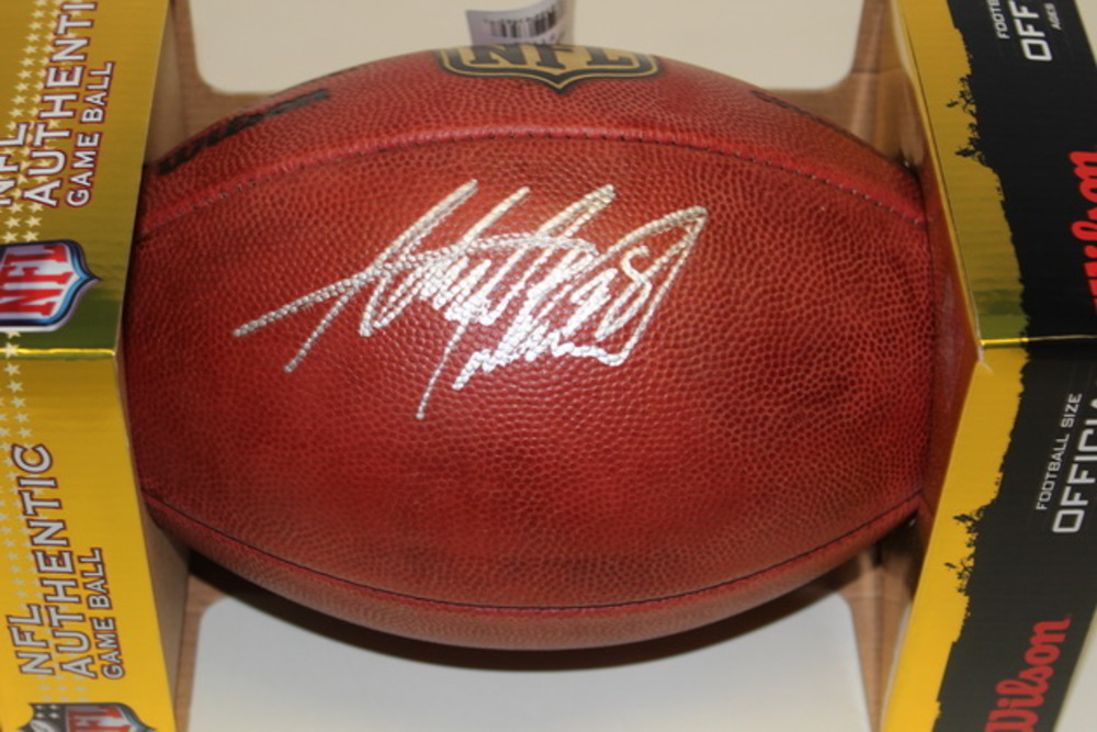 NFL - CARDINALS ADRIAN PETERSON SIGNED AUTHENTIC FOOTBALL