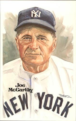 Photo of 1980-02 Perez-Steele Hall of Fame Postcards #83 Joe McCarthy  -- HOF Class of 1957