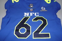 NFL - EAGLES JASON KELCE GAME ISSUED NFC PRO BOWL JERSEY - SIZE 48