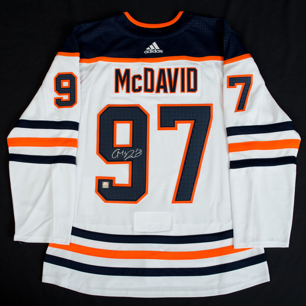san francisco ad903 f2276 Connor McDavid #97 - Autographed Edmonton Oilers White ...