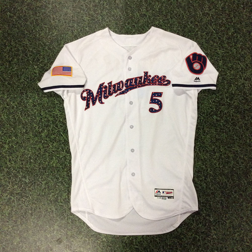 Photo of Jonathan Villar Game-Used 2018 Stars & Stripes Jersey
