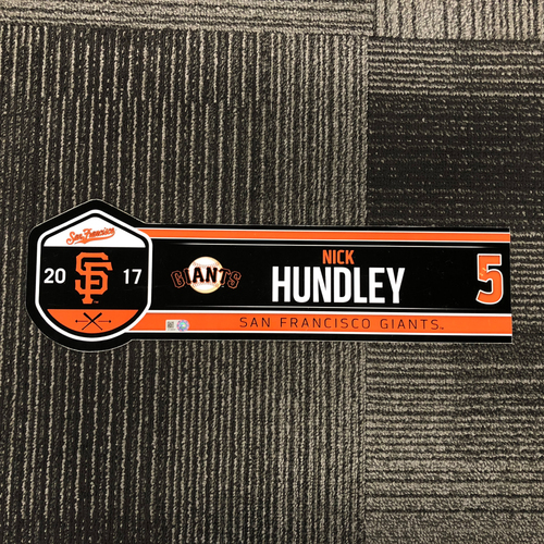 Photo of San Francisco Giants - 2017 Locker Tag - Nick Hundley