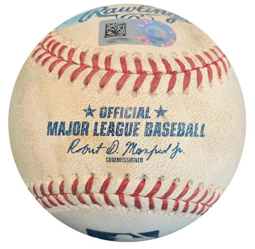 Photo of Game-Used Baseball from Pirates vs. Brewers on 7/13/18- Dickerson Foul, Kingham Groundout