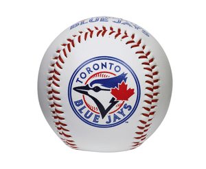 Toronto Blue Jays Basic Double Logo Baseball by Rawlings