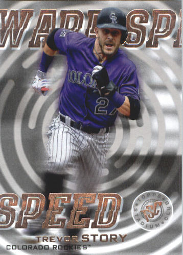 Photo of 2019 Stadium Club Warp Speed #WS7 Trevor Story