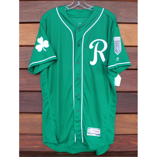 Photo of Team-Issued St. Patrick's Day Jersey: Josh Staumont (Size - 46)