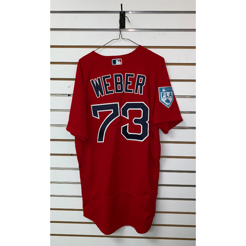 Photo of Ryan Weber team issued 2019 Spring Training Jersey