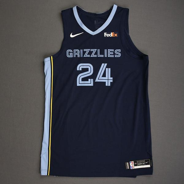Image of Dillon Brooks - Memphis Grizzlies - Kia NBA Tip-Off 2019 - Game-Worn Icon Edition Jersey