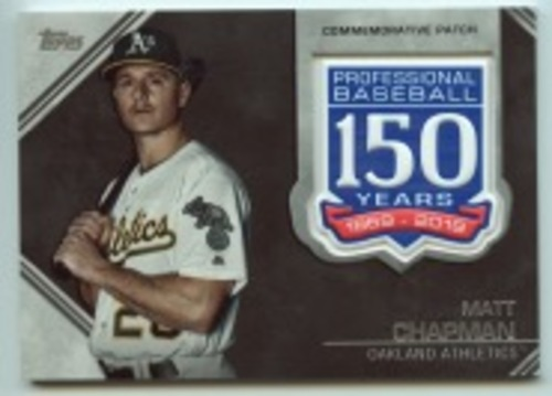 Photo of 2019 Topps Update 150th Anniversary Manufactured Patches #AMPMC Matt Chapman