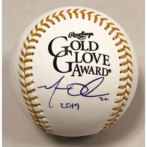 Photo of Matt Olson Autographed Rawlings 2019 Gold Glove Baseball