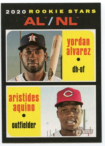 Photo of 2020 Topps Heritage #54 Yordan Alvarez RC/Aristides Aquino RC