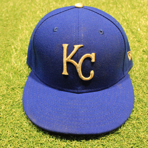 Photo of Game-Used 2020 Gold Hat: Brad Keller #56 (Size 7 1/4 - DET @ KC 9/25/20)