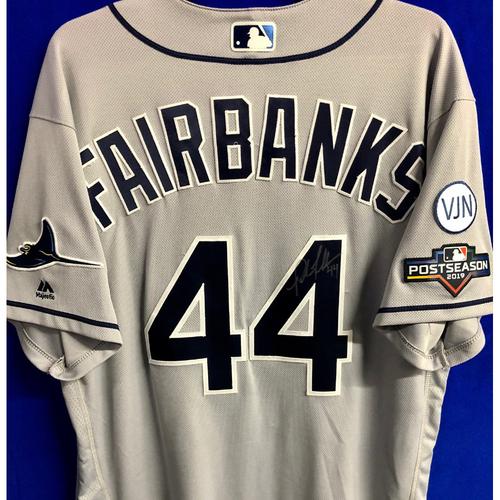 Photo of Team Issued Postseason Autographed Jersey: Pete Fairbanks