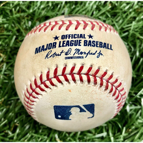 Photo of Game Used Baseball: Shane Bieber Strikes Out Ji-Man Choi - August 30, 2019 v CLE